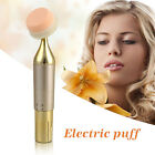 Women Gold Color 3D Electric Vibration Makeup Foundation Powder Puff Tool