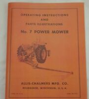Allis Chalmers CA No. 7 Power Snap Coupling Sickle Mower Owner's Parts Manual