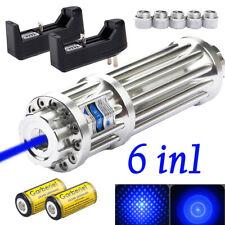 Military 1W 405nm Blue Laser Pointer Pen Powerful Visible Beam Light 16340 Lazer