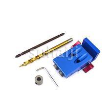 Mini Pocket Slant Hole Jig Kit + Step Drill Bit Set For Kreg Style Woodwork Tool