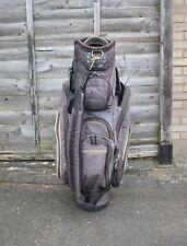 PowaKaddy Black & Yellow Cart Trolley Golf Bag 7-Way 8 Pockets USED UK