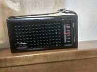 60s Vintage,MIR RADIO, AM Transistor Radio,6 Transistors,Japan 525,Leather Case