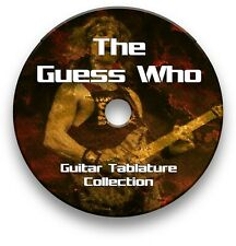 THE GUESS WHO ROCK GUITAR TAB TABLATURE SONG BOOK ANTHOLOGY SOFTWARE CD