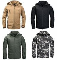 Mens Military Tactical Softshell Jacket Outdoor Camping Waterproof Coat Hoody