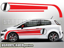Fiat Punto side racing stripes 026 decals vinyl graphics stickers