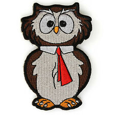 Embroidered Cute College Owl Kids Sew or Iron on Patch