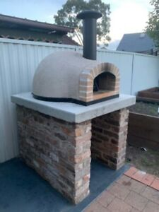 New Pre-built wood fired pizza oven (bench top) RUS70 Brick Arch - From Sydney