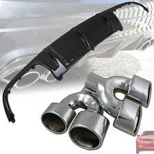 Carbon Fiber Mercedes Benz W204 4DR C63 Rear Diffuser & Exhaust Pipe 2008-2011 §