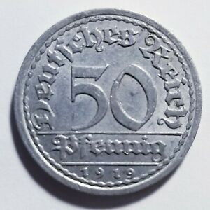 1919-A Germany Weimar Republic 50 Pfennig Priced Right Shipped FREE B159