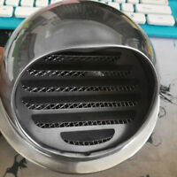 Stainless Steel Wall Air Vent Ducting  Exhaust Grille Cover Outlet 100mm 150mm