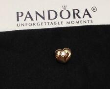 Pandora Gold Heart 14Kt & Diamonds Charm #750294D
