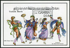 Gambia 1342 S/S, MI Bl.179, MNH. Wolfgang Amadeus Mozart, bicent. of death, 1992