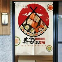 Noren Japanese Curtain Tapestry Sushi Restaurant Home Doorway Room Divider Decor