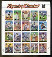 US Sheet MNH #3408 33c Legends of Baseball ,  3408