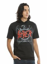 Slayer Classic Eagle Short-Sleeved Hoodie sleeve Size XXL LICENSED 2XL