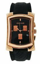 New Mens Roberto Cavalli R7251900125 Tomahawk Black Leather Watch