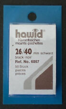 Hawid Stamp Mounts Size 26/40 BLACK Background Pack of 50