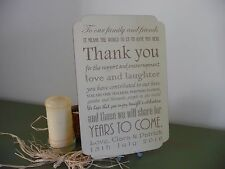 Personalised Wedding Sign Thank You Wooden Shabby Plaque Venue Table Decor