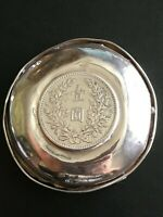 1920 CHINA CHINESE YUAN SHI KAI YEAR 9 STERLING SILVER COIN DISH PLATE 民国九年袁世凯银币