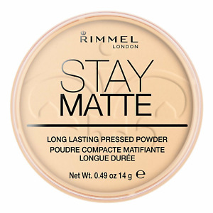 RIMMEL London Stay Matte Long Lasting Pressed Face Powder 14g *001 TRANSPARENT*