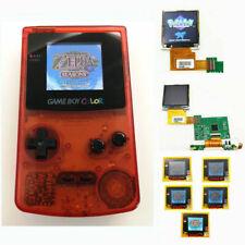 Nintendo Game Boy Color GBC System Backlight Backlit Brighter Mod Clear Red