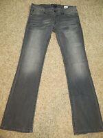 "New Jr Womens Fox Riders Racing""Torque""Gray Pants/Jeans -Stretch! Bootcut"