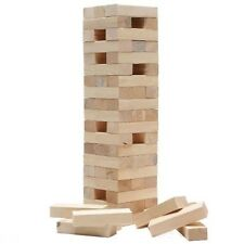 GIANT JENGA WOODEN TUMBLING TOWER GAME INDOOR OUTDOOR GARDEN FAMILY GAMES KIDS