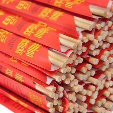 "Kari-Out Chopsticks Bamboo 9"" Individually Wrapped 5-100 Pair Free Ship US Only"