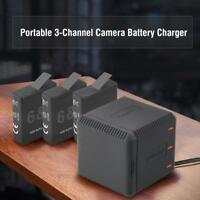 3 Slot Battery Holder Carry Fast Charging Charger Case for Gopro HERO 5/6