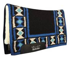 Professional's Choice HOURGLASS Black Blue Air Ride SMx Western Saddle Pad Pro