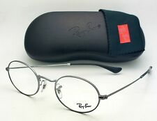 New RAY-BAN Rx-able Eyeglasses RB 3547V 2502 48-21 145 Shiny Silver Oval Frames