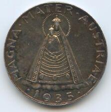 G12606 - Österreich 5 Schilling 1935 KM#2853 XF Magna Mater 1.Republik 1918-1938