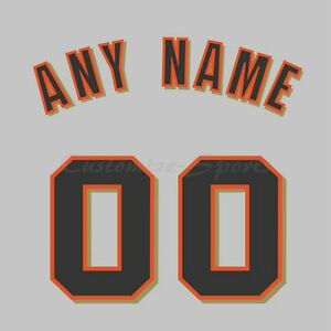 San Francisco Giants Road Gray Jersey Customized Number Kits un-sewn