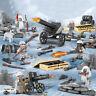6pcs/set DE Militär Soldaten mit Waffen Bausteine Bricks WW2 Mini Armee Figuren