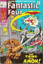 FANTASTIC FOUR #111 1971  MARVEL -HULK CAMEO- 'THING AMOK' LEE/BUSCEMA... VF-/VF