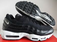 "NIKE AIR MAX 95 PREMIUM PRM ""REBEL SKULLS PACK"" BLACK-CHROME SZ 11 [538416-008]"
