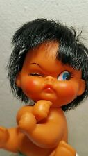 Vintage Rare Rubber Doll Toy 1960's Angry Baby Kid Girl Boy