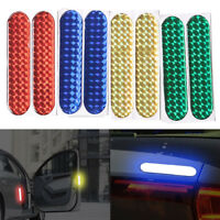 1 Pair Reflective Safety Mark Strips Car Door Stickers Warning Tape Auto Decal
