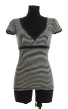 BNWOT Abercrombie&Fitch Women's striped short sleeved Top Blouse Size S