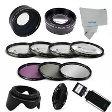 58MM 3 LENSES+ Filter Set + Accessories for CANON EOS REBEL T3 T4 T5 T3I T4I 5D