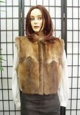 *$Refurbished Muskrat & Sh. Beaver Fur Vest Women Sz8