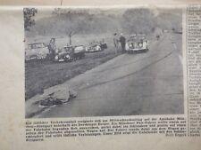 Tödlicher Autounfall Autobahn München Stuttgart 1964, Konvolut. Derchinger Berg