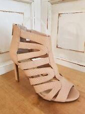 Jessica Simpson Blush Caged Open Toe Heels Womens Sz 6 ~ 36 Brand New ~ No Box