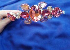 Jenny Packham Pink and Lilac Purple Candy Bridal Headpiece Headdress Tiara Party