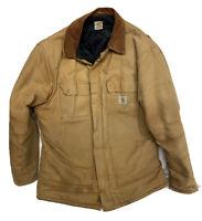 Carhartt Mens 2XL Brown Tan Traditional Work Chore Coat Jacket *See Description*