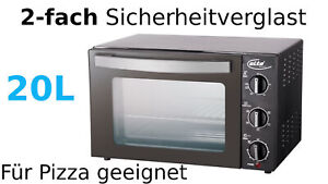 Oven Elta 676.3oz Camping Upper Lower Heating Free-Standing 2-fach Mini Small