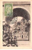 1938 . carte maximum . n°105557 .monaco.principaute de monaco .eglise ste devole