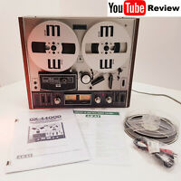 Akai GX-4400D SERVICED Reel to Reel Tape Recorder + Reels + Manuals + RCA