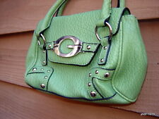 GUESS Spring Green mini purse Cosmetic bag stainless hardware NWOT~cell phone
