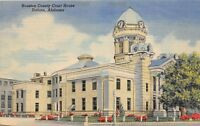 D61/ Dothan Alabama AL Postcard Linen Houston Conty Court House